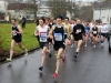 "Runners get off to a ""Flying Start"" in the Mayo AC road race in Westport  which had been cancelled in December due to Bad Weather (Snow)"