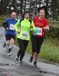 l-r: Kevin Rattigan, Mairead Cafferkey, Ann McDonnell keeping in step