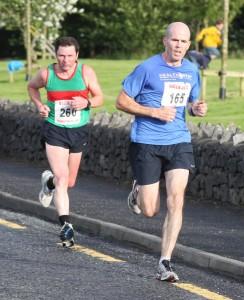 Dominic Regan and Martin Keane going for the finish Balla 10k 2012