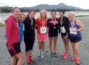 Castlebar F4L crew, l-r  Ann McDonnell, Noreen Lyons, Siobhan Duane, Mary T McDonald, Mairead Cafferkey, Karen Devaney, Marie Collum