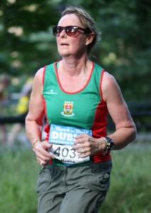 Monica Joyce...running a few months..Gold medal winner in 050 team with Pauline and Bernie