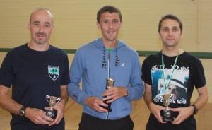 Charlestown 10k  winners l-r: 3rd Joe Cawley (Sli Cualann AC) , 1st John Byrne (Mayo AC)  , 3rd Dermot Gorman (Raheny Shamrock AC)