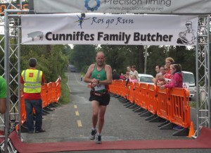 Tom Charles bringing home the bacon with a PB at Loughglynn