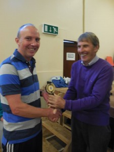 Anto gets his trophy at  Tarmonbarry Half