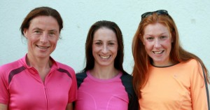 Top 3 women l-r: 2nd Colette Tuohy, 1st Norah Newcombe, 3rd Paula Prendergast