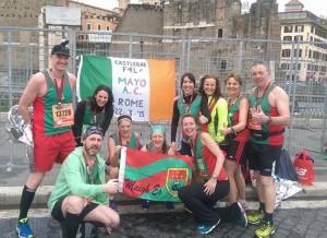 Mayo AC/Castlebar F4L at Via Dei Fori Imperiali, Maratona di Roma 2015