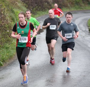 Edel Feeney (left, Mayo AC) 44:26 one of many PBs at Foxford