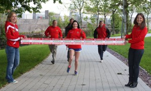Mairead Cafferkey (centre) leads the way at Series launch