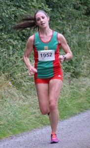 Norah Newcombe on her way to Balla 10k victory in 38:05