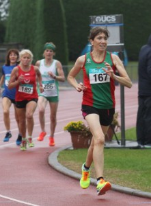 Pauline Moran on her way to silver medal in 3,000 metres