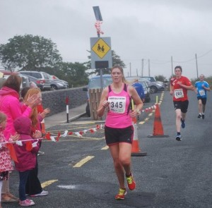Sarah Syron finishing first in Castleconnor
