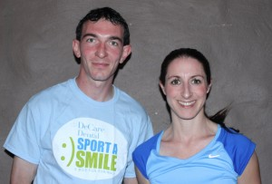 Race winners: Brendan Hession and Norah Newcombe