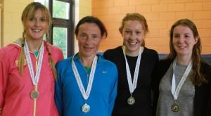 Senior Women team : Sarah Syron, Colette Tuohy, Paula Prendergast, Edel Feeney