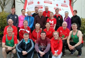 Launch group with sponsor Brendan Chambers Vodafone C&C Cellular (standing centre)