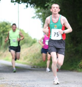 Sean Brophy got bonus points for his 39:54 pb finish in Balla 10k