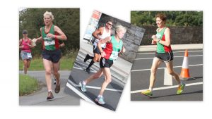 o50 gold team Ann Murray, Mags Glavey, Pauline Moran