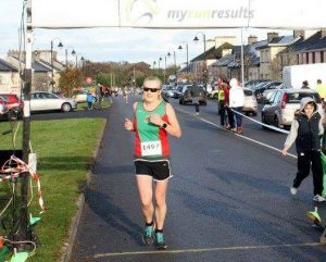 Angela McVann winner Mayo AC 2016 Women's Club League finishing Hollymount 6k