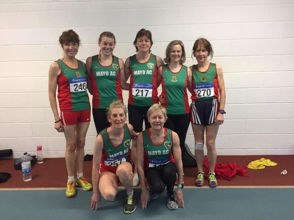 The magnificent seven at Athlone: back l-r Pauline, Noelle, Marcella, Breege, Angela; front Ann and Mags